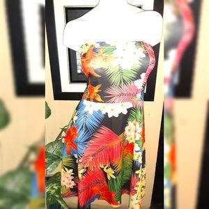 Tropical Bandeau dress